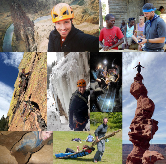 Photo Collage of Disaster Travel and Wilderness Medicine Instructor Dallas Branum