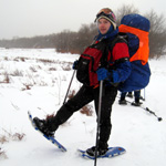 Picture of Matt Rosefsky leading snowshoe hiking and backpacking at Dolly Sods, West Virginia